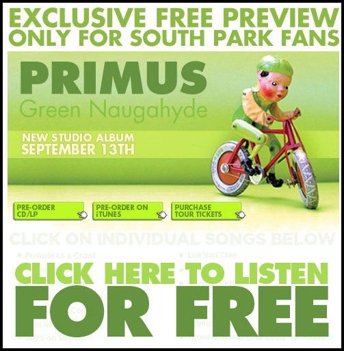 stream primus new album green naugahyde